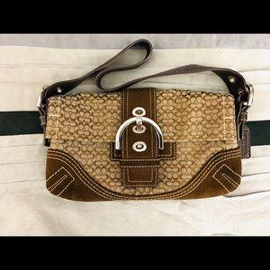Coach small brown & tan purse